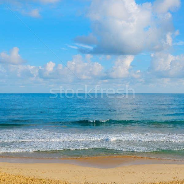 Okyanus mavi gökyüzü bulutlar güneş doğa Stok fotoğraf © alinamd