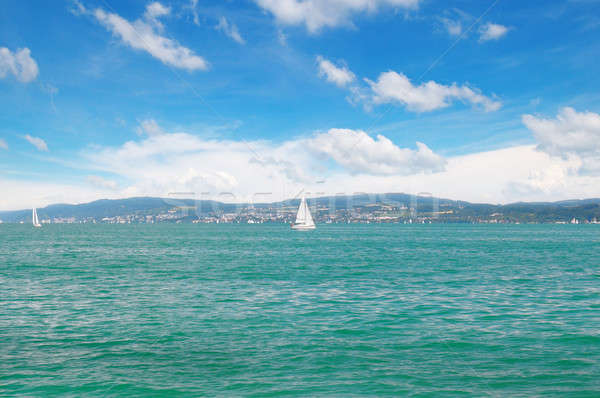 seascape with turquoise waters and sailing vessel Stock photo © alinamd