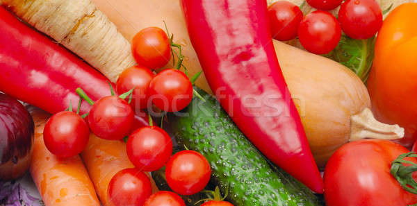 bright background of ripe vegetables Stock photo © alinamd