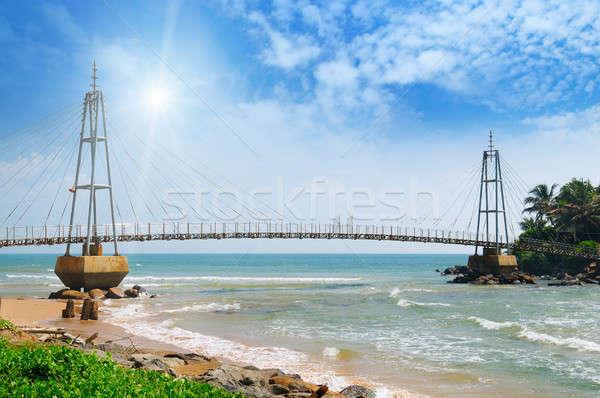 моста острове океана солнце Blue Sky Шри Ланка Сток-фото © alinamd
