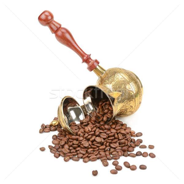 coffee pot and coffee beans Stock photo © alinamd