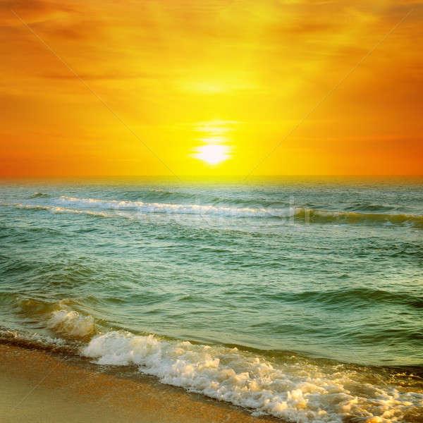 Fantastisch zonsopgang oceaan water voorjaar zon Stockfoto © alinamd