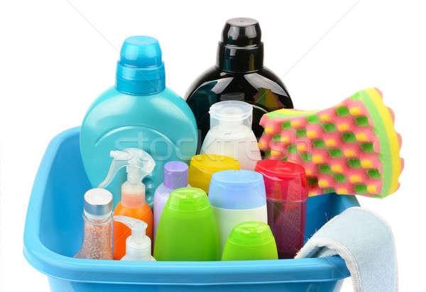 Bottiglia shampoo sapone isolato bianco acqua Foto d'archivio © alinamd