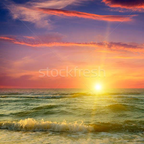 фантастический Восход океана воды весны солнце Сток-фото © alinamd
