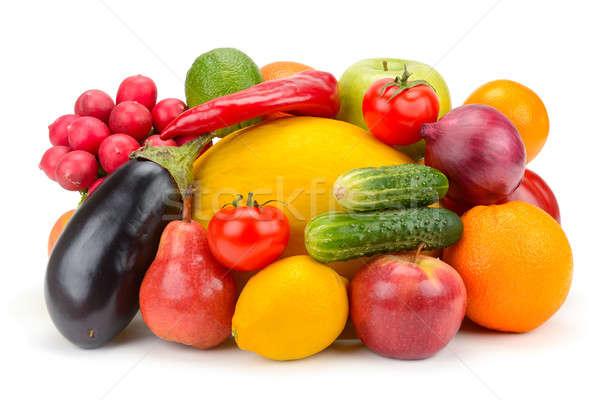 Früchte Gemüse isoliert weiß Obst Hintergrund Stock foto © alinamd
