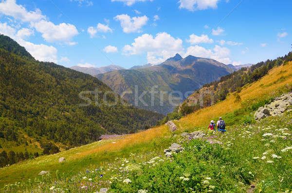живописный горные декораций походов тропе Сток-фото © alinamd