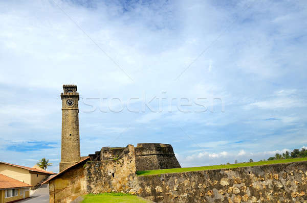 clock on the tower, fort Galle, Sri Lanka Stock photo © alinamd