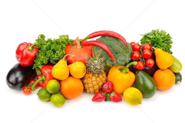 Vruchten groenten geïsoleerd witte kleur tomaat Stockfoto © alinamd