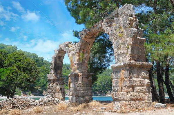 Ancient ruins of ancient city of Phaselis Stock photo © alinamd