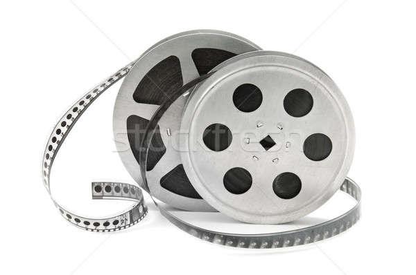 Oude filmstrip film geïsoleerd witte Stockfoto © alinamd