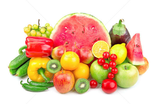 watermelon and a variety of fruits and vegetables  Stock photo © alinamd