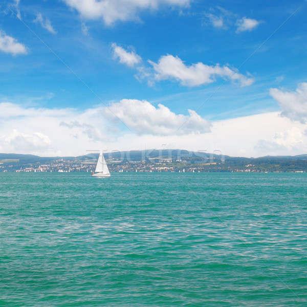 Paesaggio marino turchese vela sport mare sfondo Foto d'archivio © alinamd