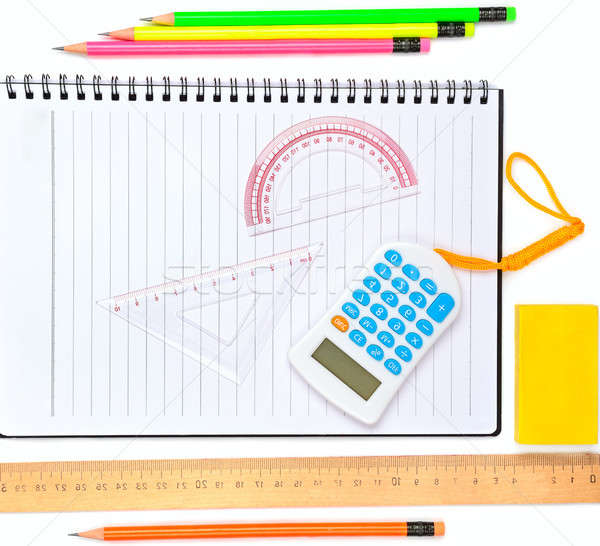 School and office supplies isolated on white Stock photo © alinamd