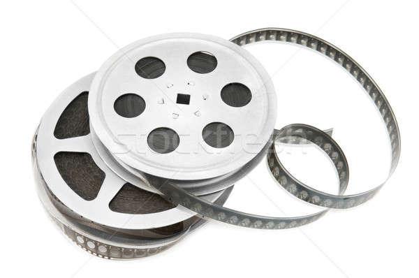 Vecchio film strip isolato bianco film sfondo Foto d'archivio © alinamd