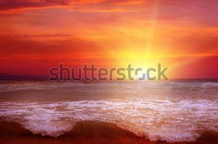 Fantasztikus napfelkelte óceán víz tavasz nap Stock fotó © alinamd