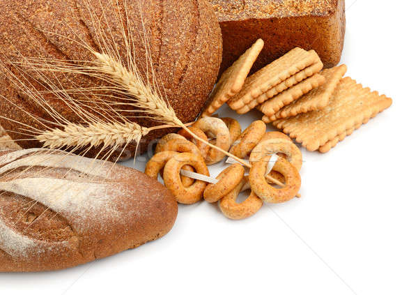 bread and flour products isolated on white background Stock photo © alinamd