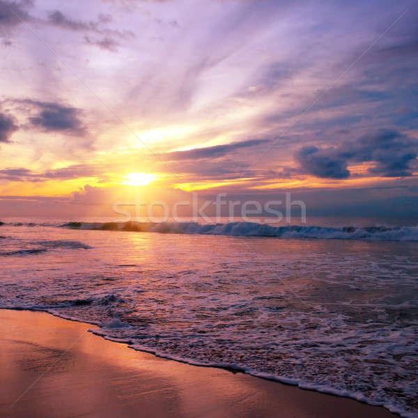幻想的な 日の出 海 空 春 太陽 ストックフォト © alinamd