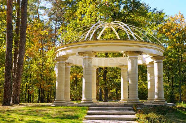 beautiful gazebo in autumn park Stock photo © alinamd