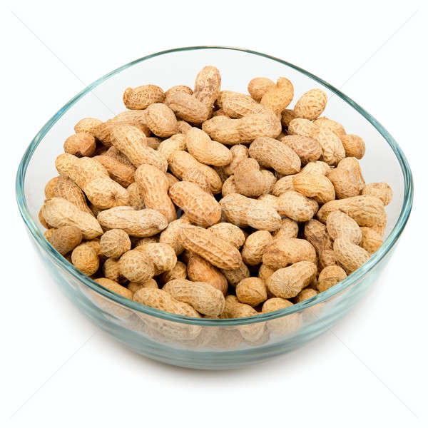 peanuts in a bowl isolated on white background Stock photo © alinamd