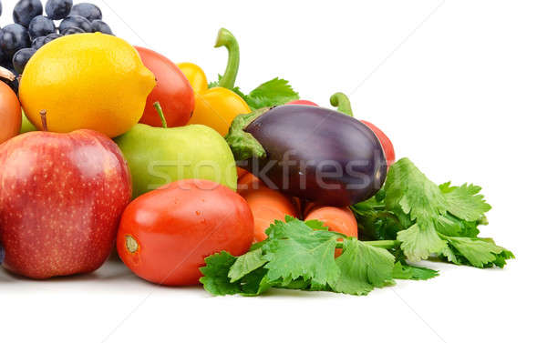 fruits and vegetables isolated on white background Stock photo © alinamd