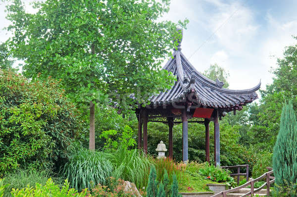 Stock photo: gazebo in the Chinese style