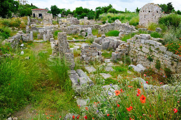 The ruins of the ancient city, Side, Turkey Stock photo © alinamd