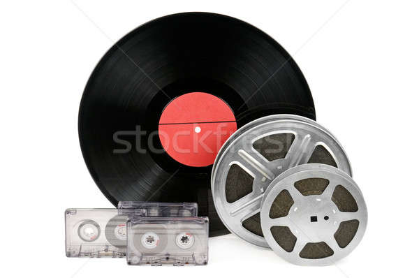 オーディオ レコード フィルムストリップ 孤立した 白 映画 ストックフォト © alinamd
