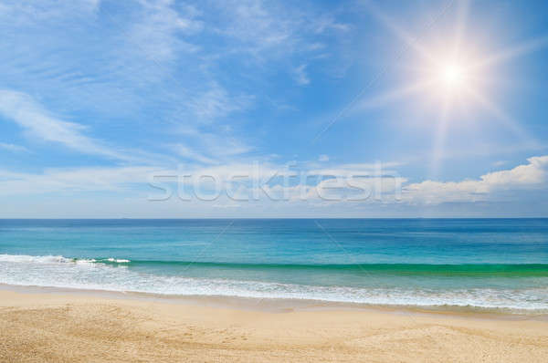ocean, sandy beach and blue sky Stock photo © alinamd