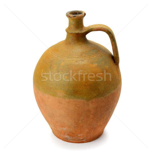 clay amphora isolated on white background Stock photo © alinamd