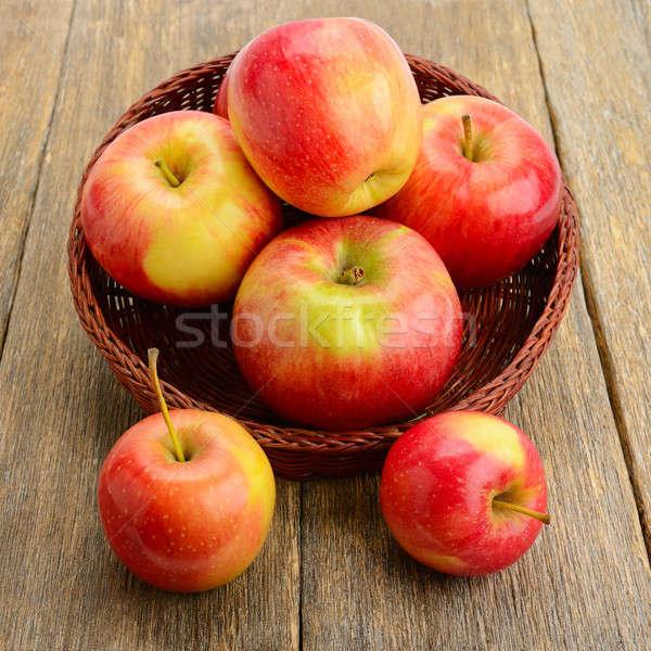 красный яблоки поверхность фрукты фон Сток-фото © alinamd