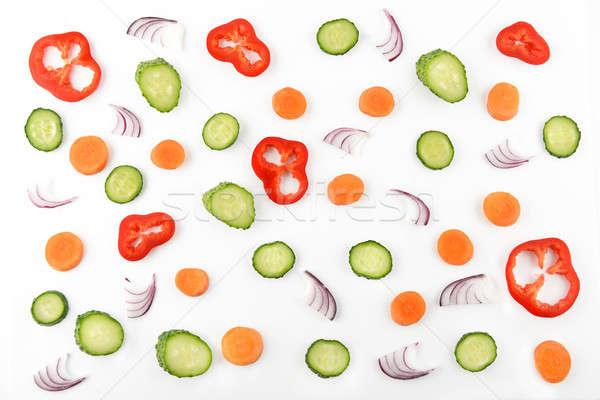Streszczenie warzyw warzyw wzór żywności powrót Zdjęcia stock © alinamd