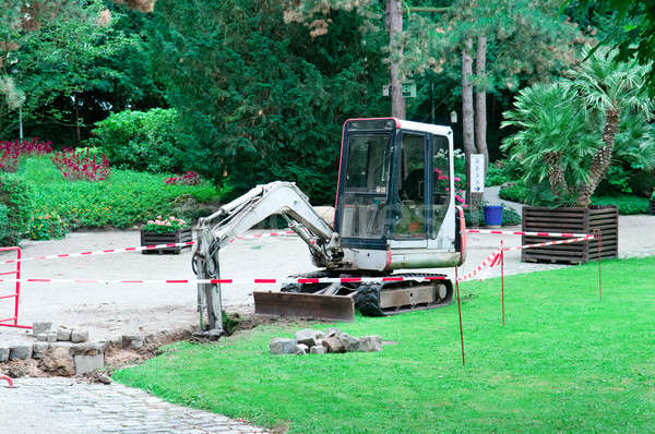small excavator working in the park Stock photo © alinamd