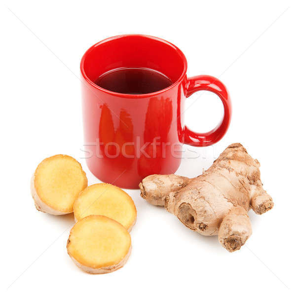 ginger root and a cup of tea  Stock photo © alinamd