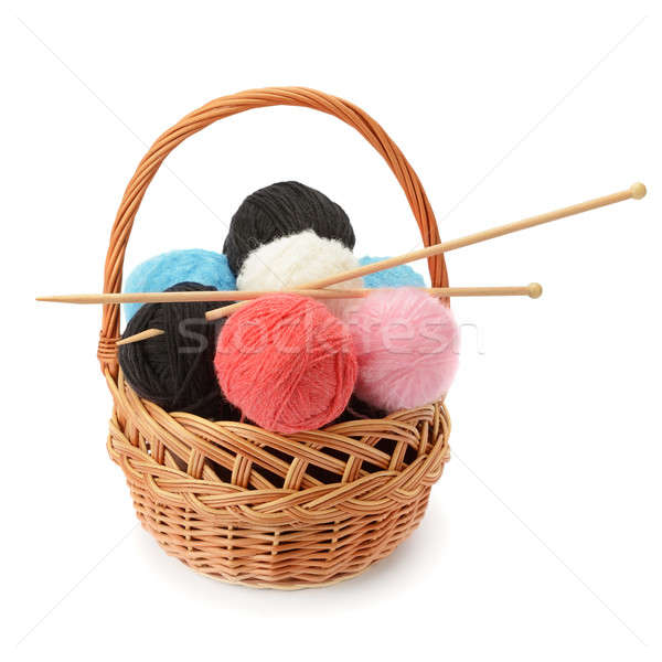 skeins of yarn and knitting needles Stock photo © alinamd