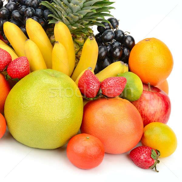Meyve ayarlamak yalıtılmış beyaz gıda arka plan Stok fotoğraf © alinamd