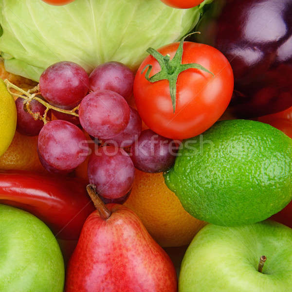 Stock photo:  background  of vegetables and fruits