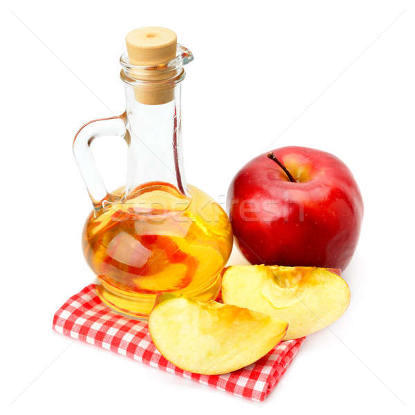 Elma elma şarabı sirke elma yalıtılmış beyaz Stok fotoğraf © alinamd
