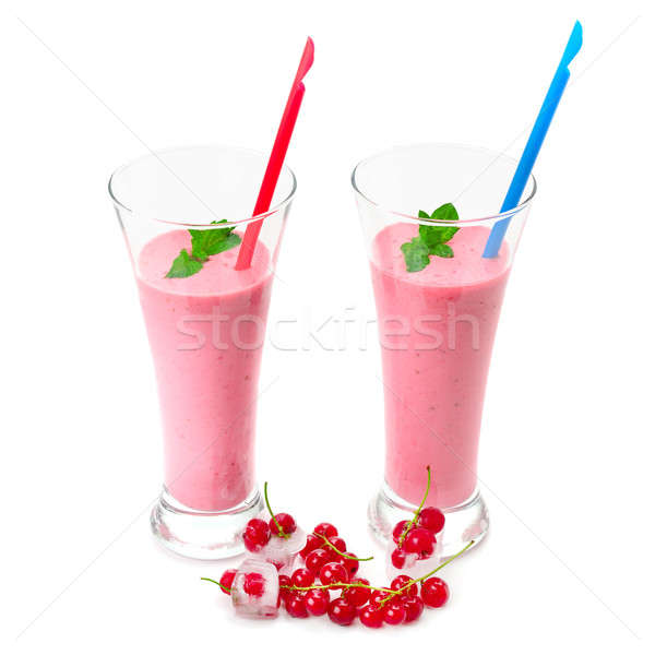 berries smoothies and red currants isolated on white background Stock photo © alinamd