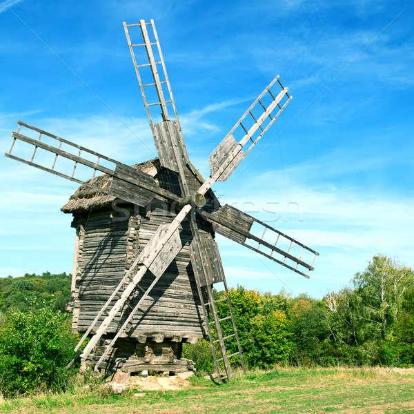 Old wooden windmill  Stock photo © alinamd