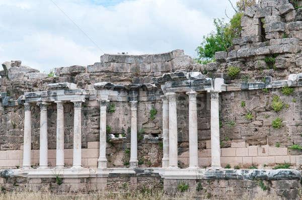 Mooie oude ruines kant Turkije Stockfoto © alinamd