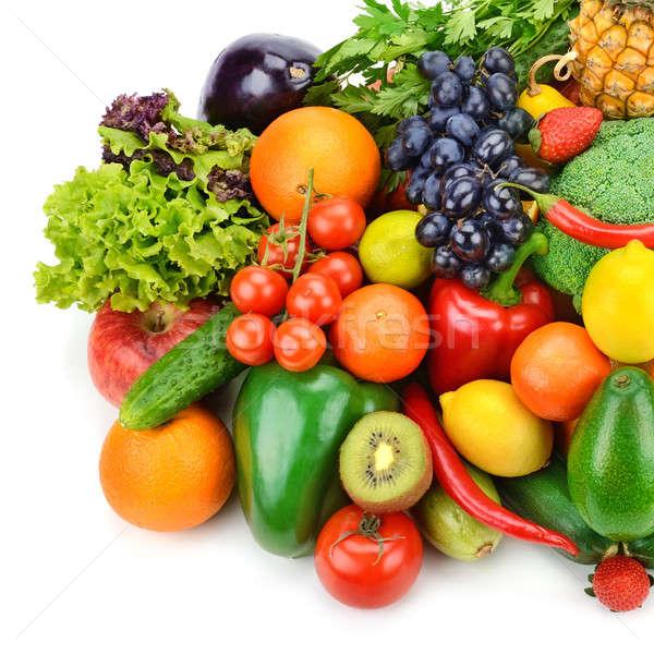 フルーツ 野菜 白 孤立した 食品 赤 ストックフォト © alinamd