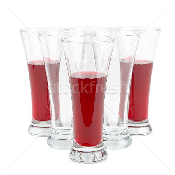 glasses with fruit juice isolated on white background Stock photo © alinamd