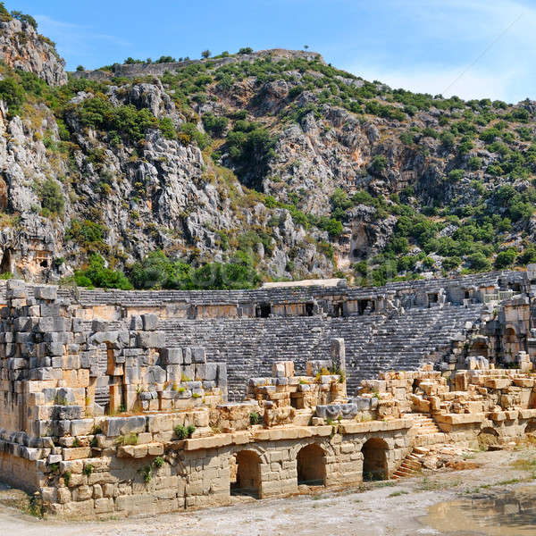 Ruins of Greco-Roman amphitheater in the city of Mira Turkey Stock photo © alinamd