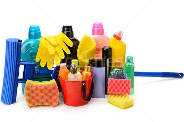 домашнее хозяйство химикалии изолированный белый набор дома Сток-фото © alinamd