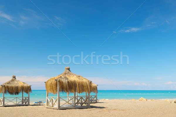 Resort vacanze spiaggia costruzione sole Foto d'archivio © alinamd
