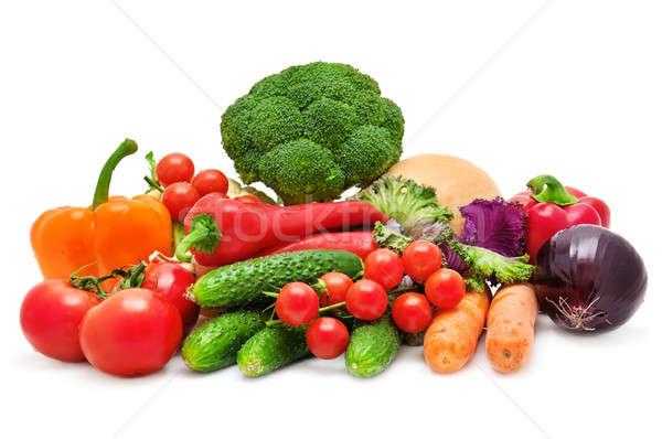 Set of vegetables isolated on white background Stock photo © alinamd