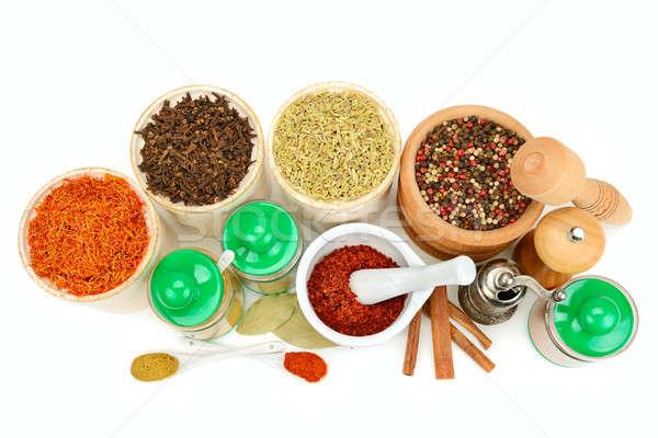 set of spices isolated on white background Stock photo © alinamd