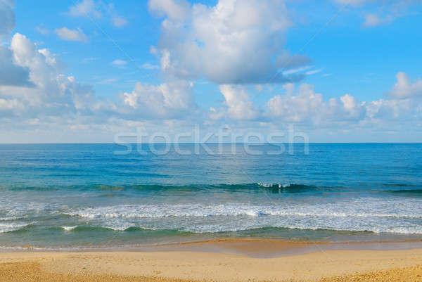 океана Blue Sky воды солнце морем Сток-фото © alinamd