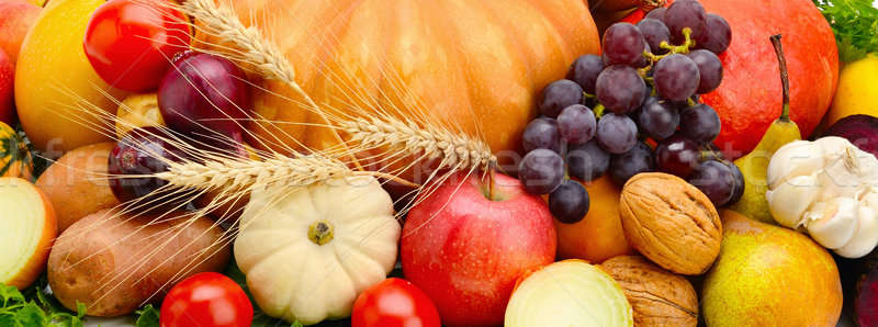 Set of vegetables and fruits Stock photo © alinamd