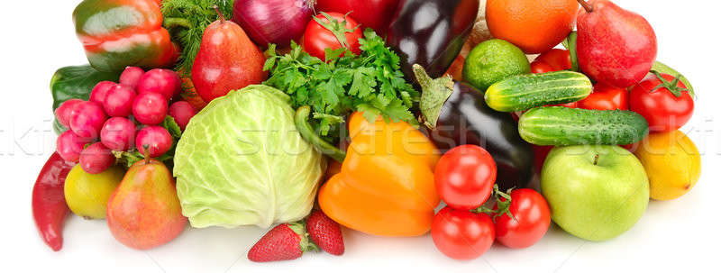 Vruchten plantaardige geïsoleerd witte ingesteld achtergrond Stockfoto © alinamd